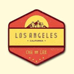 Brock Weaver | Los Angeles Badge #badge #los #illustration #la #angeles