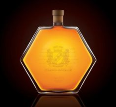 Wamssler Grand Royale | Lovely Package #bottle #alcohol #yellow #design #clean #minimal #amber #spirit #hexagon #package