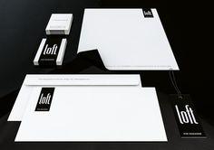 Loft for Magazine - Clothing Store on Behance #loft #clothing #stationary #design #minimal #fashion #logo