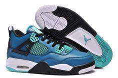 Nike Air Jordan 4 Womens Retro Couple Shoes Green Black