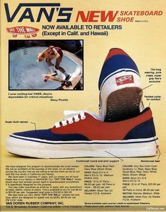 vintage-vans-advertising-skateboard_vans_off_the_wall_skateboardshoe | tomorrow started #vans #vintage #ad #kate