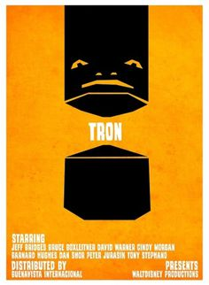 Tron VS. Saul Bass on the Behance Network #mcp #retro #tron