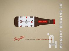 Design/Logo/Packaging / cherry witbier poster #beer #design #typography