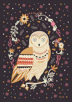 Poppy&red #owl