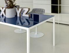 Rectangular Aluminium Table - #design, #furniture, #modernfurniture,