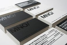 MNO/ Branding #business card #mexico #mno #serigraph