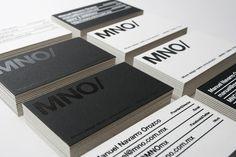 MNO/ Branding #business card #mexico #mno #serigraph