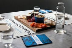 Russ & Daughters #type #blue #branding #restaurant