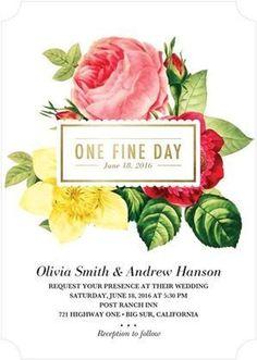 Outstanding Occasion - Signature White Wedding Invitations #invitation wedding flowers
