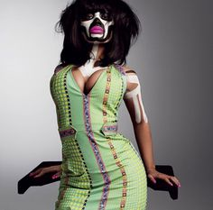V MAGAZINE / THE RISE AND RISE OF NICKI MINAJ #fashion #photography #nicki #nicki minaj #black woman #face paint