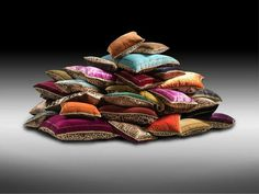 Art pillows #accessories #artistic #collection #home #furniture #cavalli #art #roberto