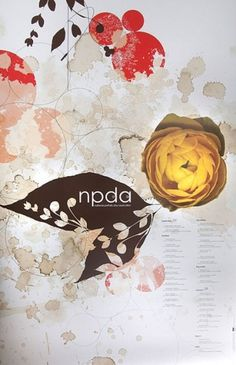 NPDA Poster | Flickr - Photo Sharing! #print #design #illustration #typography #poster #layout