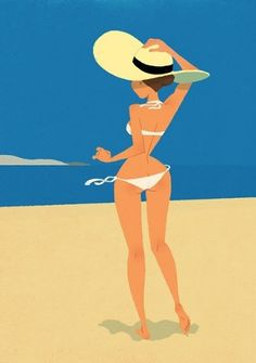 SushiXAV: Cap-Ferret #girls #xavier #hat #ramonde #bikini #cute #beach