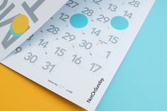 #poster #notonsunday #calendar #yellow #turquoise #grid