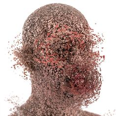 XGen Portraits on Behance #face #explosion #3d #distort