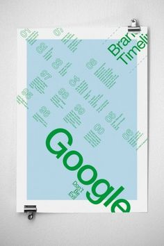 Google Infographics Poster | JAMES MILLER #miller #typography #design #james #posters #google #blue #green