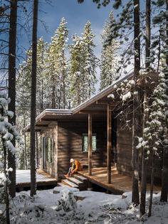 Ulery Lake Cabin Near Yellowstone National Park / Lake Flato Architects