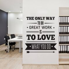 Nice Office Decor Typography Inspirational Quote Wall Decoration Art Vinyl