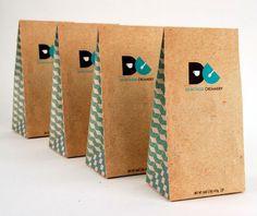 Demitasse Creamery on Behance #bag #pattern #simplistic #branding #packaging #cream #spoon #ice #bowl #beans #geometric #clean #creamery #demitasse #photography #coffee #logo #minimalist #cup