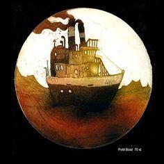 mercredi 2 juin 2010 #lithographie #sea #boat