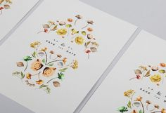 Wedding Invitations #illustration #stationary #flowers #wedding invitation #lisa hedge