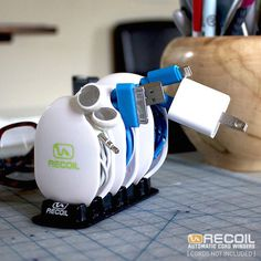 Recoil AUTOMATIC Cord Winder #tech #flow #gadget #gift #ideas #cool