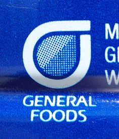 ]General Foods Logo, 1988 #logo #dots #halftone #saul bass #general foods
