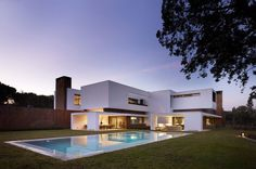 Imposing House With Volumes and a Sense of Privacy by Dahl Architects + GHG Architects #architecture