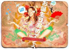 JPOP Japanese pop on the Behance Network #red #tropical #girl #design #graphic