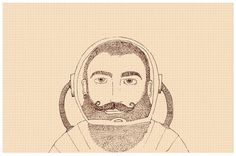 Char Lee | Illustration #astronaut #beard #bearded #illustration #man #charlee #moustache