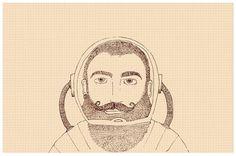 Char Lee | Illustration #illustration #beard #man #moustache #astronaut #bearded #man charlee