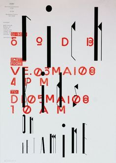 we find wildness: David Keshavjee & Julien Tavelli #design #poster #typography