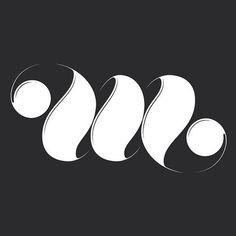M ambigram by Adria Molins Design Barcelona #calligraphy #logotipe #lubalin #design #black #adria #adriamolins #barcelona #type #molins #style #typography