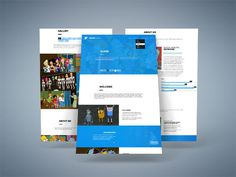 One Page : Creative PSD Template