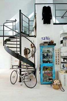 Visual Dose March 20, 2015 at 02:22PM | Designcollector #interior #stairs #bike
