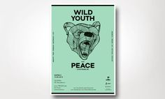wild youth poster - new office #new #design #office #indie #poster #music #bear #layout #band #green