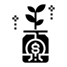 See more icon inspiration related to bonus, growth, plant, business and finance, motivation, profit, income, jar and dollar on Flaticon.