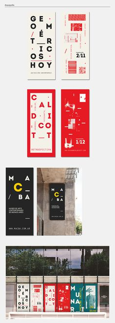 MACBA on Behance #modern #museum #typography