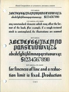 Gotika type specimen #type #specimen #typography