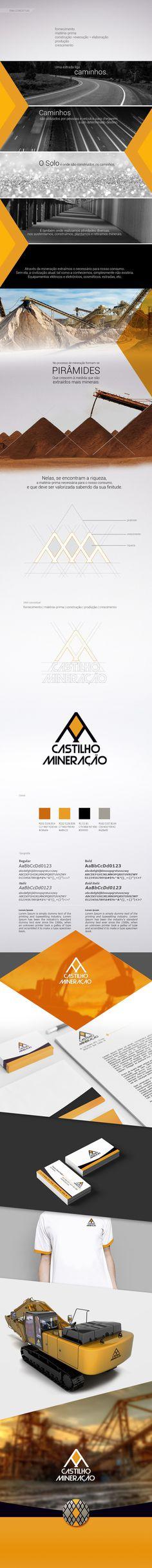 Castilho Mineração - marianapoczapski #identity #logo #construction