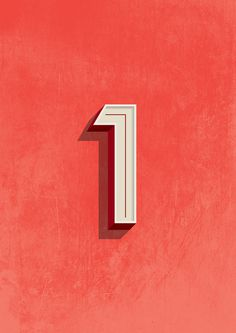 One on Behance #lettering #design #number #one