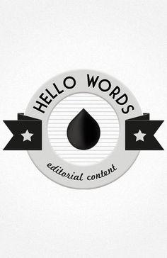 Hello Words #logotype #design #graphic #monochrom #hello #logo