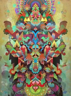 Dæmon [treatment 2] Art Print by C86 | Matt Lyon | Society6 #psychadelic