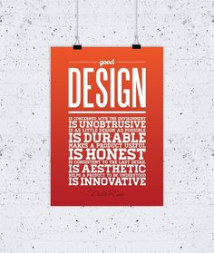What Design Is Good Design poster #quote #type #dieter #rams