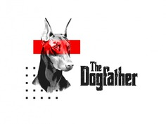 The Dogfather | Red monochrome