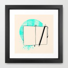 Blank Page - Framed Print