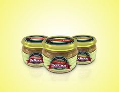 Delicias. on Behance #labels #packaging #pate #bottles #can