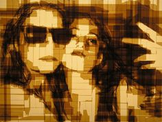 Ani and Sofie from web a tape art #portraits #tape #art #paintings