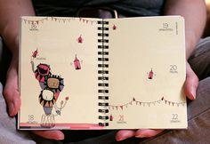 www.prinzapfel.com #a5 #timeplanner #calendar #planer #kalender #flap #prinzapfel #illustration #diary #a6 #taschenkalender