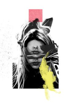 LVRS // INIT - Rosco Flevo #design #graphic #artscumantics #faces #postartfuckery #mixed #media #muse #collage #female #fashion
